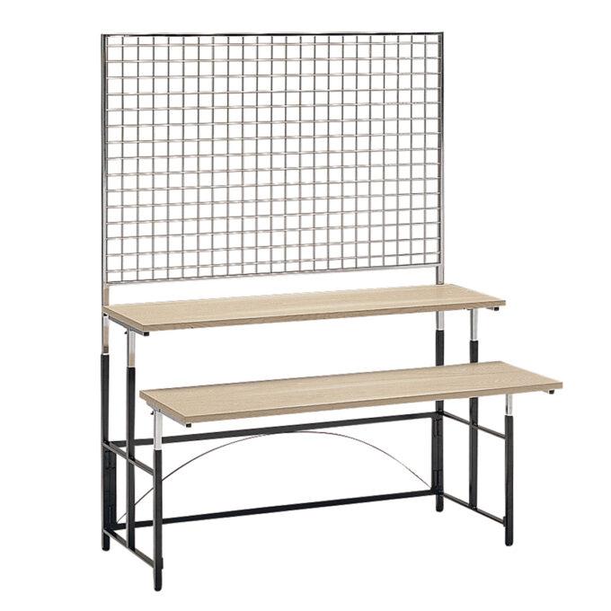TABLE&CHAIR : マルチテーブル L メッシュスクリーン付ステップ