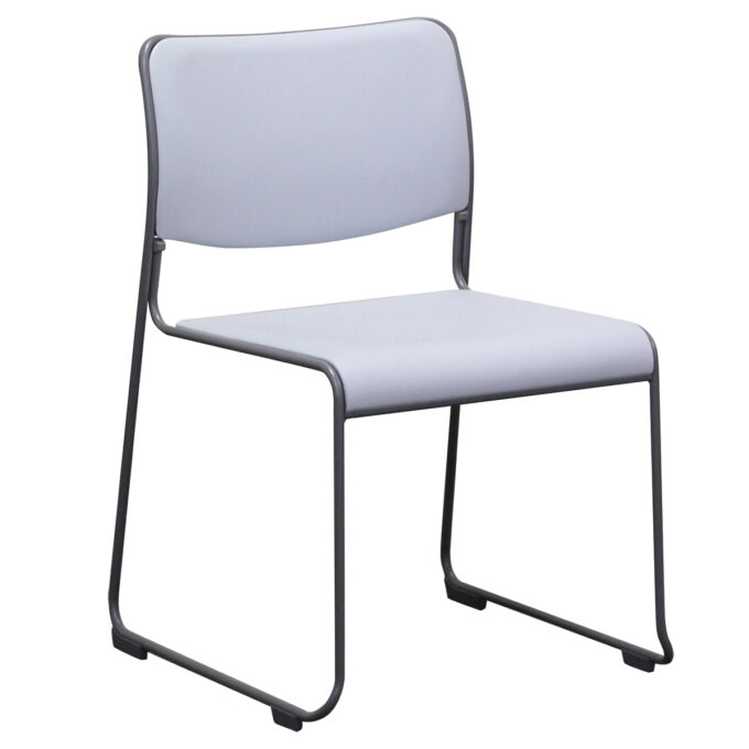 TABLE&CHAIR : スタッキングチェア グレー