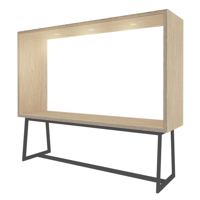 FROM FORM : BOX TABLE ローチェア片面 W2400