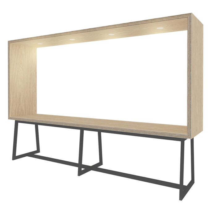 FROM FORM : BOX TABLE ローチェア片面 W3000