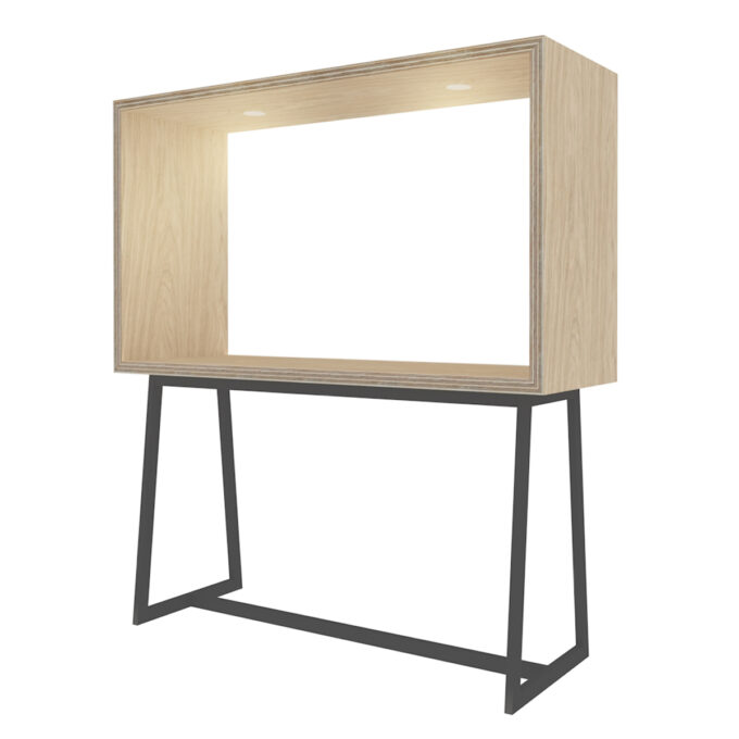 FROM FORM : BOX TABLE ハイチェア片面 W1800