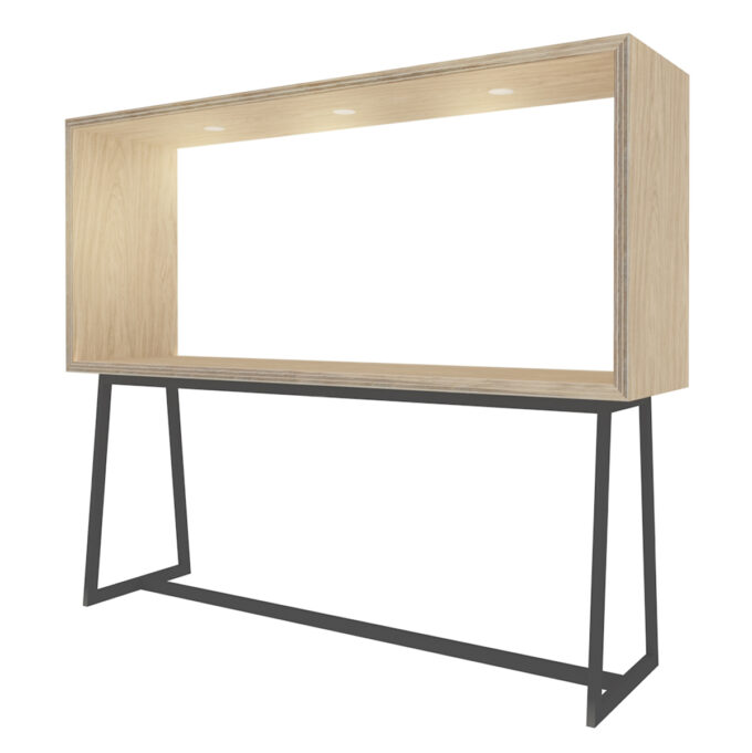 FROM FORM : BOX TABLE ハイチェア片面 W2400