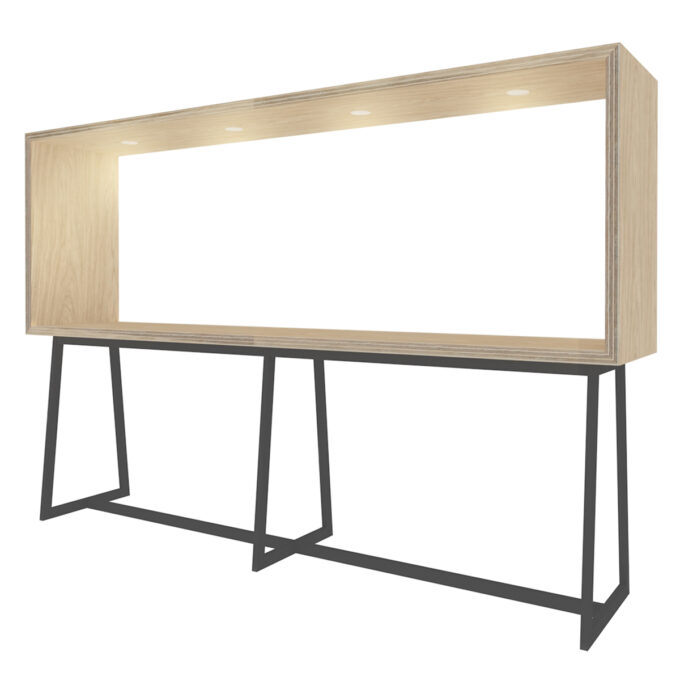 FROM FORM : BOX TABLE ハイチェア片面 W3000