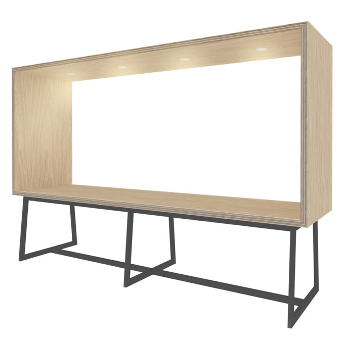FROM FORM : BOX TABLE ローチェア両面 W3000