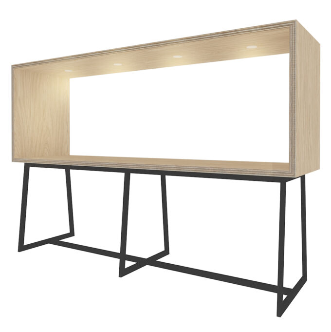 FROM FORM : BOX TABLE ハイチェア両面 W3000