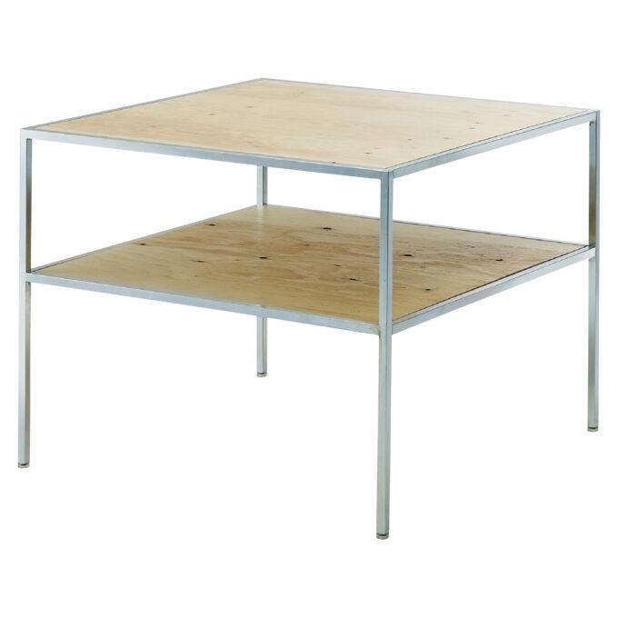 Kasha Table : 2段テーブル 亜鉛メッキ